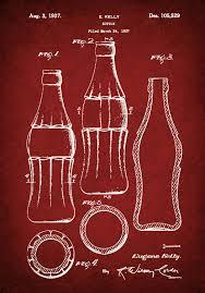 patent 1937 coca cola bottle 3rd design with hobble skirt art