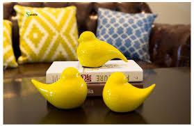 Birds Home Decor 3pcs Ceramic Bird Decorations Creative Home Supplies