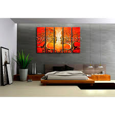 dining room framed art large kiss tree face canvas art home decor dining room prints