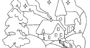 cute winter coloring pages scene free winter coloring pages luiscachog me
