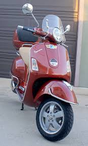 modern vespa my custom paint color red no more sort of