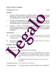 deed of grant of easement template legalo