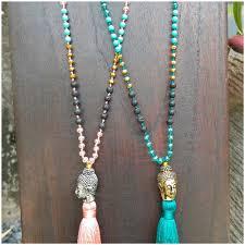wholesale beaded necklace images Buddha head tassels necklaces larva stone bead bali wholesale 50 jpg