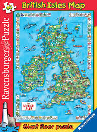 British Isles Map Ravensburger British Isles Map Giant Floor Puzzle 60 Pieces