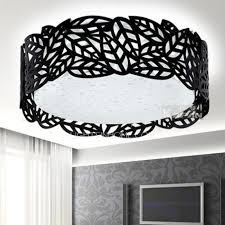 flush mount drum light large flush mount ceiling light and black drum 7 8 h