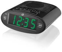amazon com gpx c303b dual alarm clock am fm radio with time zone
