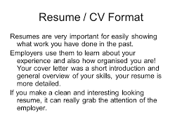 resume i form and design vocabulary 1 resume 이력서 or cv a supremacy of ec law essay professional paper editor for hire for