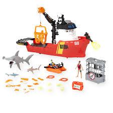 animal planet deep sea shark research playset 30 piece toys