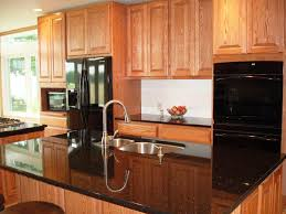 countertops kitchen colors with oak cabinets and black