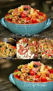 bonne cuisine rapide antipasto pasta salad is loaded with salami mozzarella veggies and