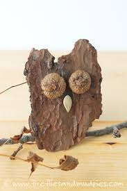 how to make bark owls owl craft and nature crafts