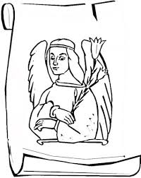 angel gabriel coloring page free printable coloring pages