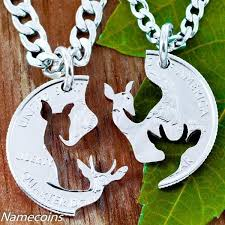 stainless steel puzzle necklace images Buck and doe necklaces namecoins jpeg