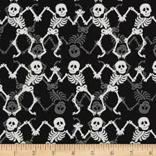 free halloween tiled background fabric choices