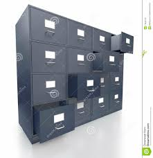 Office Lateral Filing Cabinets by Four Grey Office Filing Cabinets With Open Drawers Royalty Free