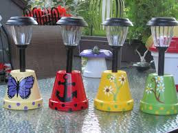 solar light holders made by angela yard decorations pinterest