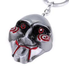 Saw Mask Horrible Movie Saw Mask Keychain Alloy Mask Keyring Fashion