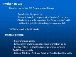 gis class online enhancing the use of python in gis and remote sensing
