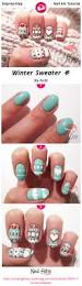 winter sweater nail art gallery step by step tutorial photos