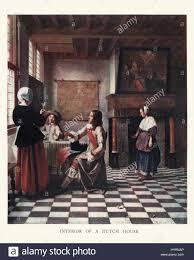 interior of a dutch house from the painting by pieter de hooch a