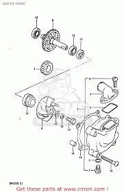 suzuki rm125 1983 d water pump schematic partsfiche