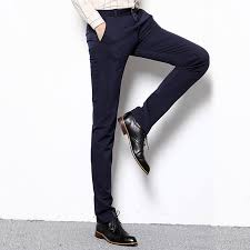 korean version of the black and white breasted waist stretch pants