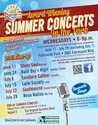 summer concerts in the park riverside downtown partnership