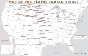 Indian Tribes North America Map by Map Of The Plains Indian Tribes