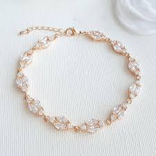 gold crystal bridal necklace images Gold crystal wedding bracelet rose gold bridal bracelet marquise jpg
