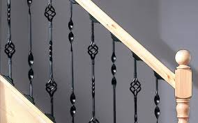 Contemporary Stair Parts by Black Metal Stair Parts Spindles Jackson Woodturners