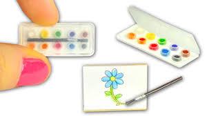 miniature watercolor set diy actually works art supplies