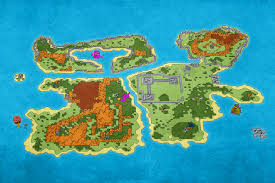 Phantasy Star 2 World Map by Vr Retro Games