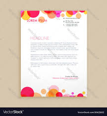 Business Letterhead Designs by Stylish Colorful Business Letterhead Design Vector Image