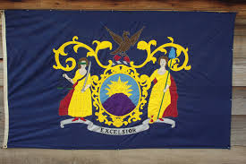 New Jersy Flag Red White Blue And Gold Fort Stanwix National Monument U S
