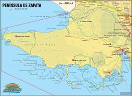 Map Cuba Destination Zapata Swamp The Largest Swamp Reserve In The