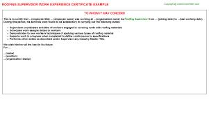 Production Supervisor Job Description For Resume by Roofing Supervisor Job Title Docs