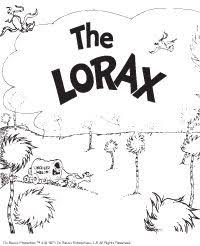 dr seuss the lorax coloring pages 5 craft ideas pinterest