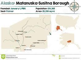 Alaska County Map by Alaska Matanuska Susitna County