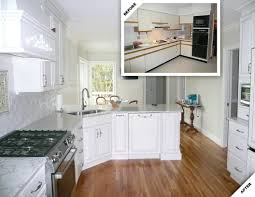 Kitchen Remodel Before After by Kennebunkport Kitchen Renovation Douston Construction