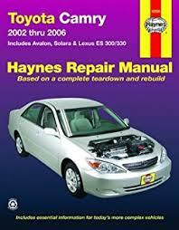 1993 toyota camry repair manual toyota camry avalon solara lexus es300 330 repair manual 2002