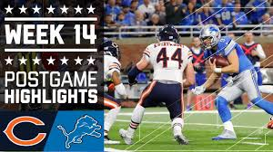 lions record on thanksgiving games bears vs lions nfl week 14 game highlights youtube