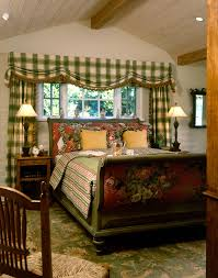 Bay Window Curtain Designs Bedroom Beautiful Plaid Curtains In Bedroom Traditional With
