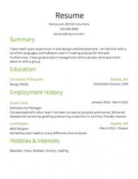 Simple Sample Of Resume by Magnificent Sample Of A Simple Resume Wellsuited Resume Cv Cover