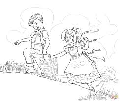 adventure time coloring pages online jack and jill nursery rhyme coloring page free printable