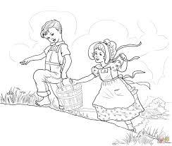 jack and jill nursery rhyme coloring page free printable