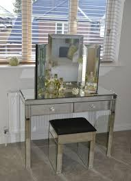 mirrored console vanity table mirrored venetian two drawer console dressing table f d interiors ltd