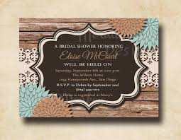 Wedding Shower Invites Rustic Bridal Shower Invitations Plumegiant Com