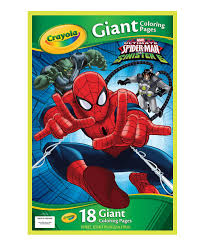 crayola spider man giant coloring pages zulily