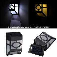 small solar lights outdoor high quality led small solar fences lights plastic black solar wall