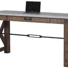 Industrial Writing Desk by Morrison Industrial Wood Computer Writing Desk